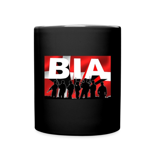 BIA+DKflag - Ensfarvet krus