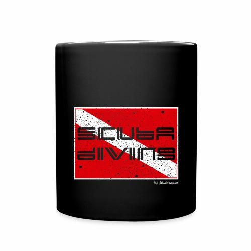 scuba diving-broken flag - Full Colour Mug