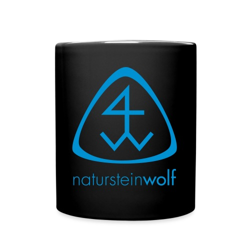 natursteinwolf - Tasse einfarbig