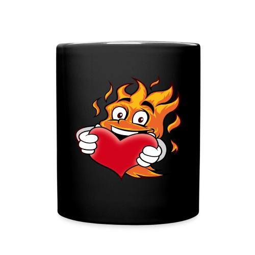 Flame_heart - Tasse einfarbig