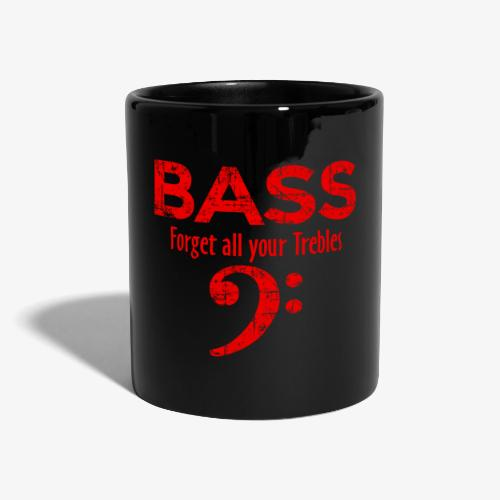 BASS Forget all your trebles (Vintage/Rot) - Tasse einfarbig