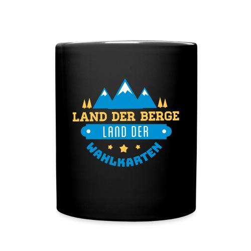 Land der Berge Land der Wahlkarten - Tasse einfarbig