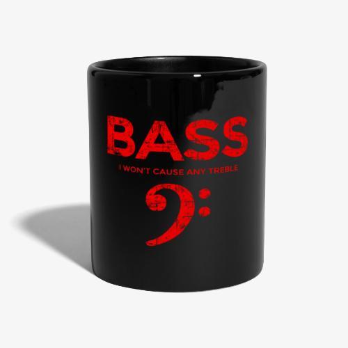 BASS I wont cause any treble (Vintage/Rot) Bassist - Tasse einfarbig