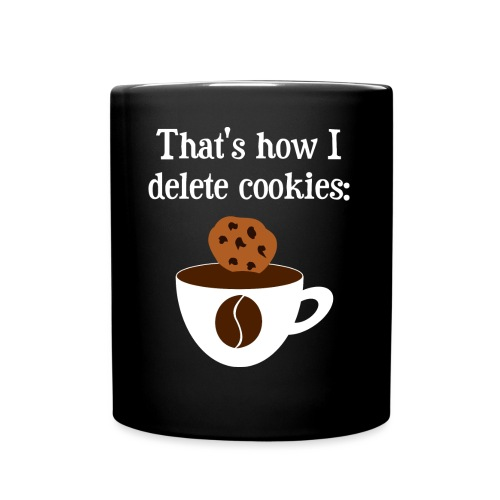 Cookies Kaffee Nerd Geek - Tasse einfarbig
