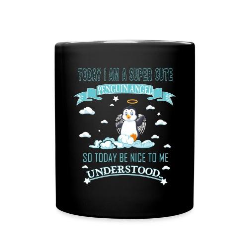 Pinguin Engel Weihnachten Antarktis Shirt Geschenk - Tasse einfarbig