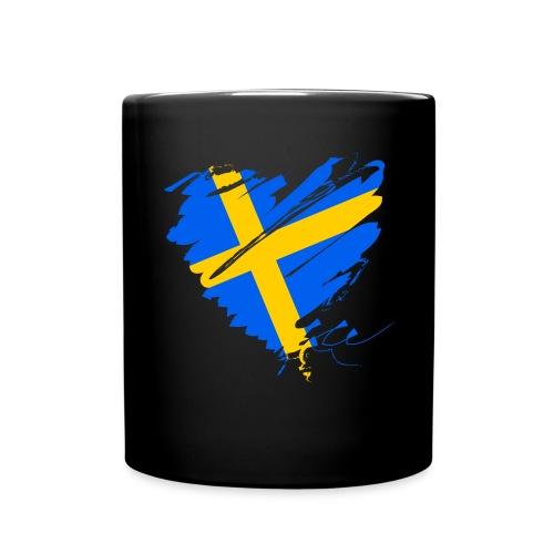 Schweden Skandinavien Europa Fahne Grunge Herz - Full Colour Mug