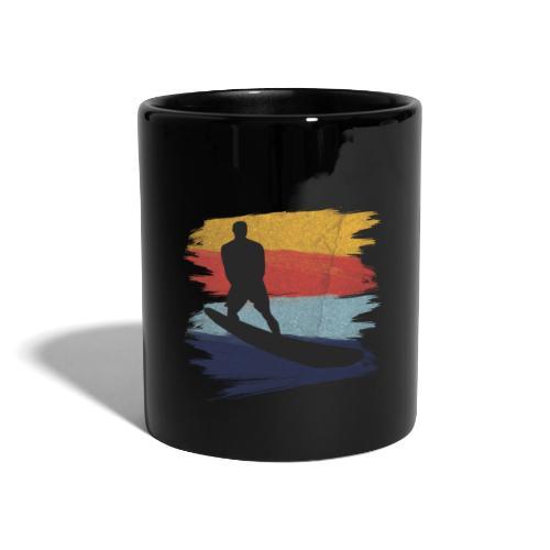 Wellenreiten Retro-Stil, Vintage - Tasse einfarbig