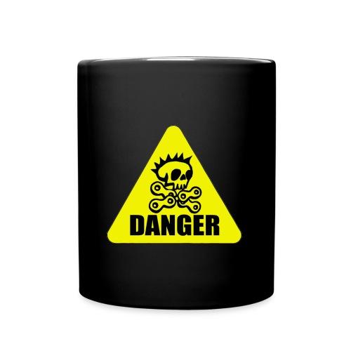 achtung radpirat danger - Tasse einfarbig