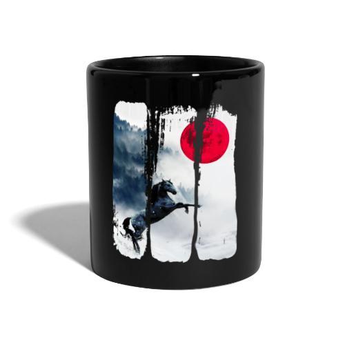 Vollmond Pferd - Tasse einfarbig