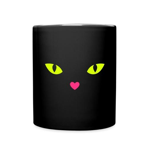 CAT LOVE - Katzenaugen - Tasse einfarbig