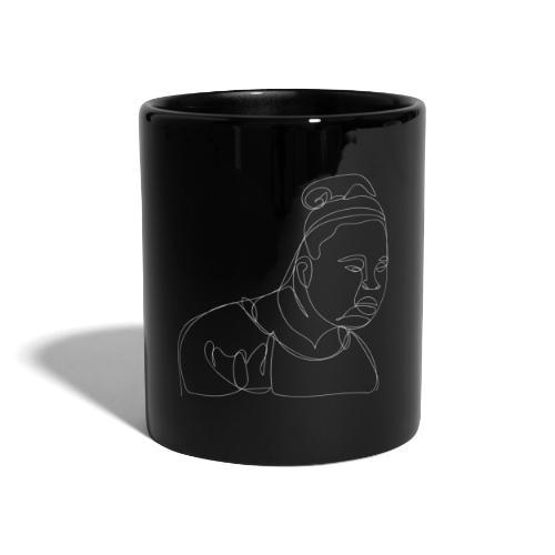 DAFUQ WHITELINE - Tasse einfarbig