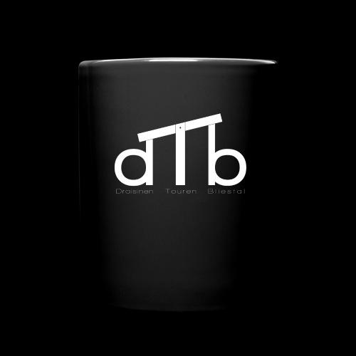 Logo_dTb_weiss_inv - Tasse einfarbig