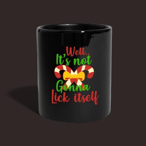 Weihnachten   lecken Zuckerstange Masche xmas - Tasse einfarbig