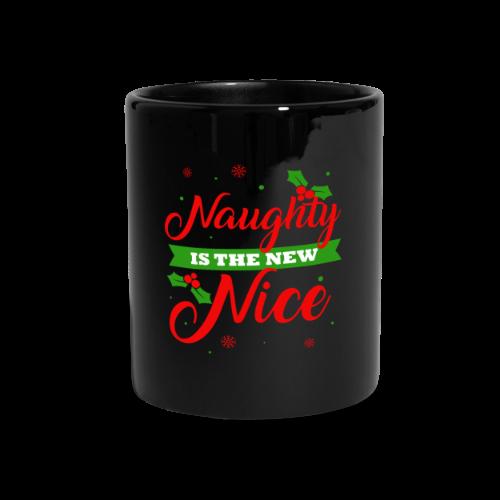 Weihnachten   unartig artig nett - Tasse einfarbig