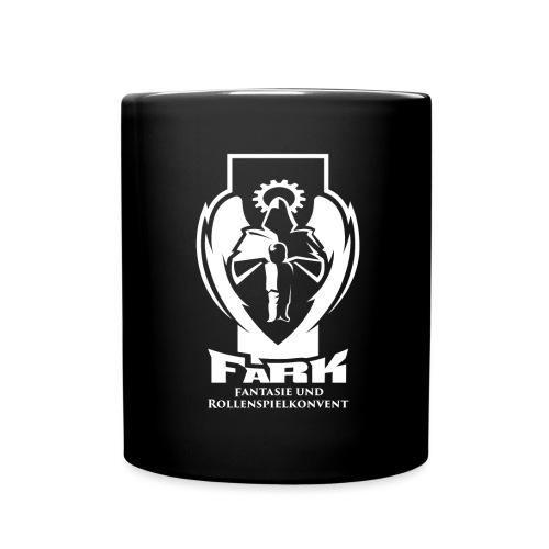 fark_logo_outline_white - Tasse einfarbig