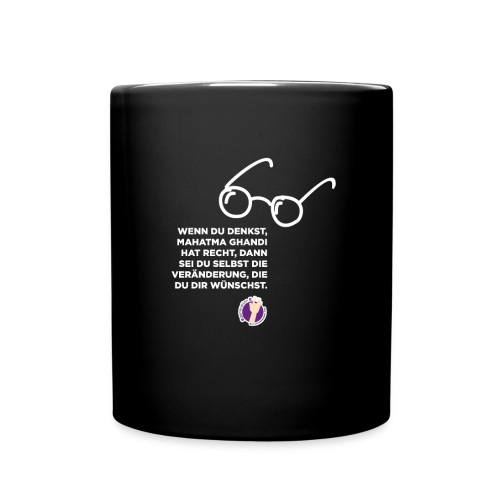 Mahatma Ghandi - Tasse einfarbig
