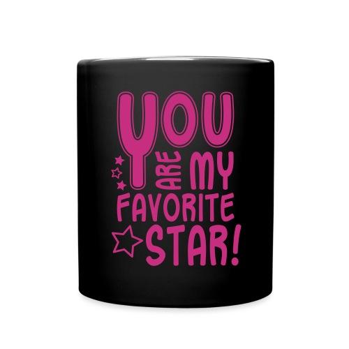 Favorite Star, Glitzer - Tasse einfarbig