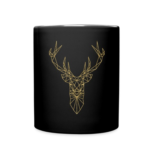 Hirschkopf Triangel-Design gold - Tasse einfarbig