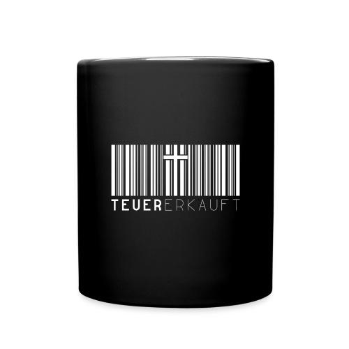 Teuer Erkauft Barcode Jesus Kreuz - Christlich - Tasse einfarbig