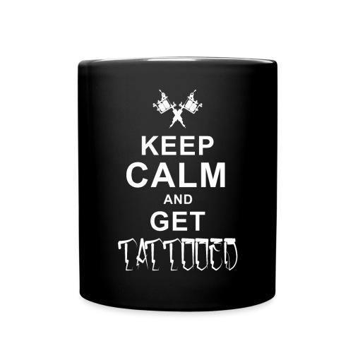 keep Calm Tattoo - Tasse einfarbig