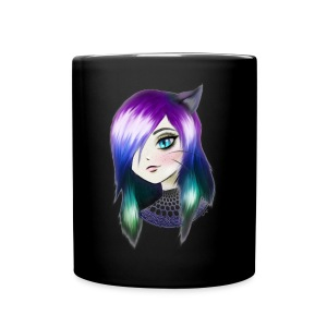 manga neko girl - Tasse en couleur