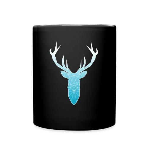 Hirschkopf mit Geweih - hellblau - Tasse einfarbig