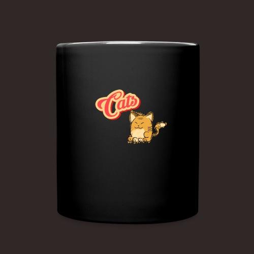 Katze   Katzen süß Schriftzug - Tasse einfarbig