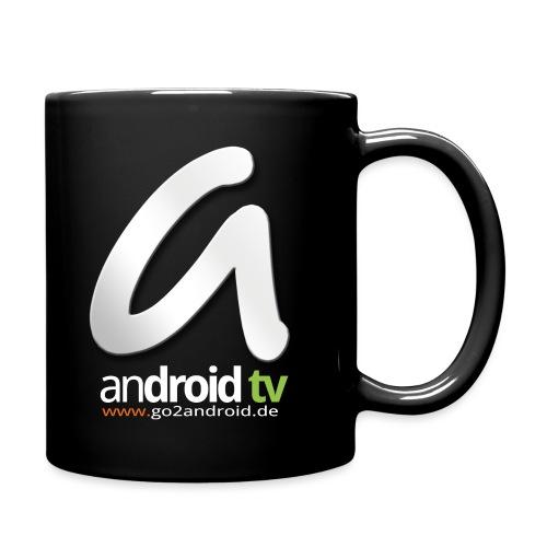 androidTV_negativ_big - Tasse einfarbig