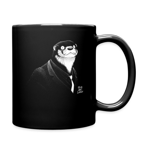 White Otter dressed in Black - Full Colour Mug