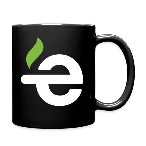 E logo white on black - Mok uni
