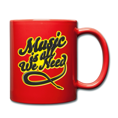 Music Is All We Need - Full Colour Mug