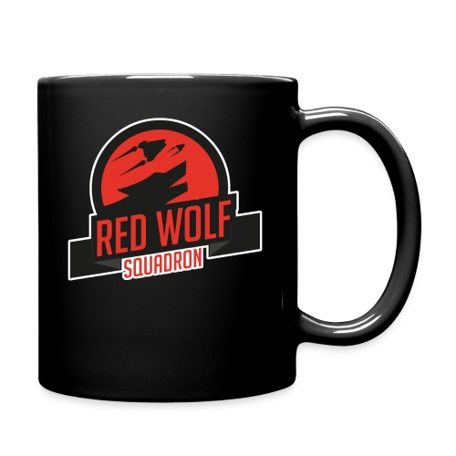 Red Wolf Outline png - Full Colour Mug