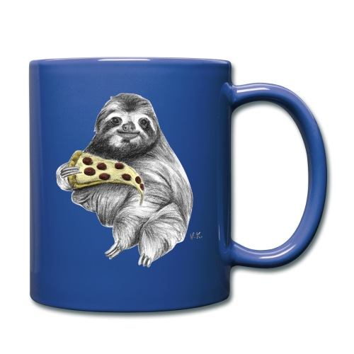 Slot Eating Pizza - Full Colour Mug
