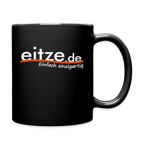eitze.de Logo weiss - Tasse einfarbig
