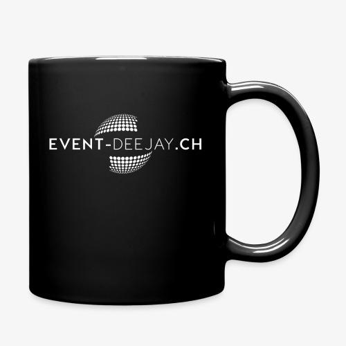 EventDeejay Logo White png - Tasse einfarbig