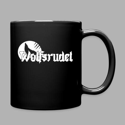 Vektor Logo Wolfsrudel - Tasse einfarbig