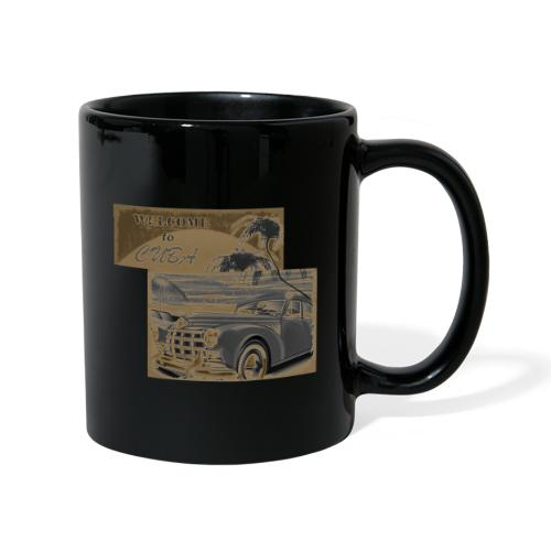 benvenuti a Cuba vecchia macchina vintage retrò - Tazza monocolore