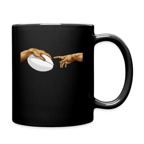 Rugby Die Erschaffung Adams Michelangelos Hand - Tasse einfarbig