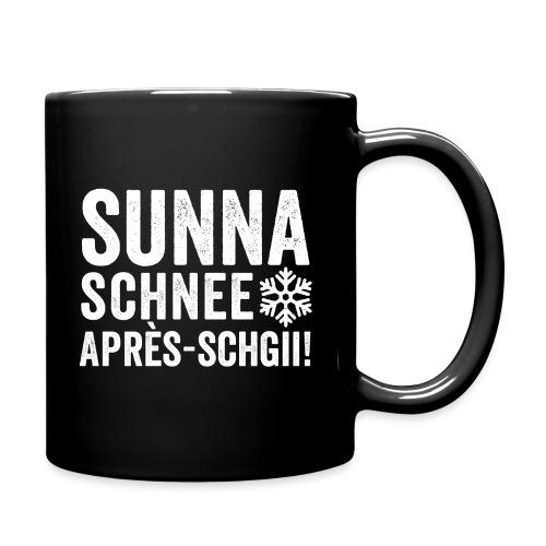 SUNNA, SCHNEE, APRÈS-SCHGII - Tasse einfarbig