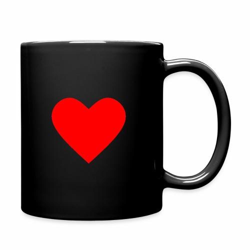 Kahvikuppi - Sydän - Yksivärinen muki