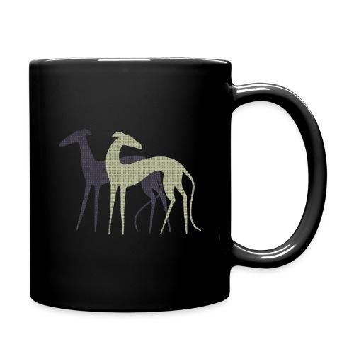 Zwei Windhunde - Tasse einfarbig