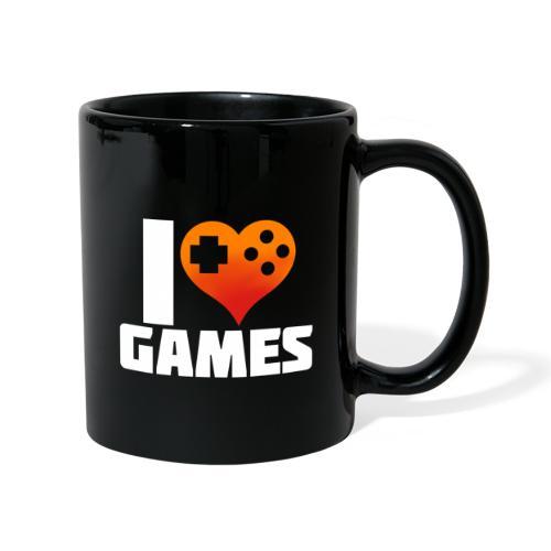 I <3 Games - Tasse einfarbig