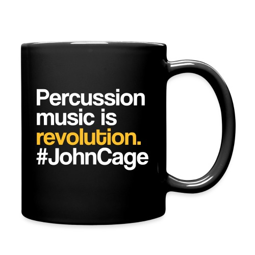 John Cage - Percussion Music (Schlagzeug Motiv) - Tasse einfarbig