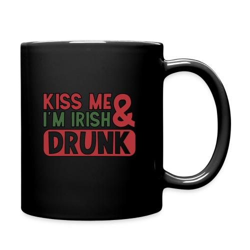 Kiss Me I'm Irish & Drunk - Party Irisch Bier - Tasse einfarbig