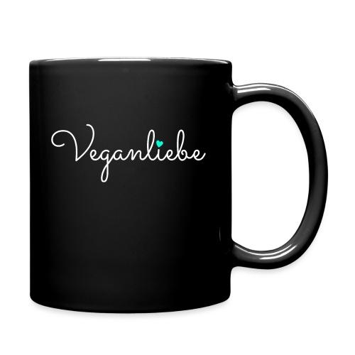 Veganliebe Logo Schriftzug für Veganer - Tasse einfarbig