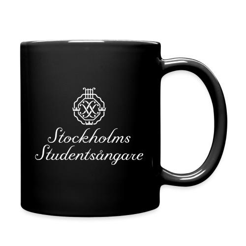 SSSF logo / emblem + namn (vit) - Enfärgad mugg