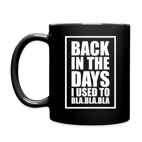 back in the days bla bla ver02 - Ensfarvet krus
