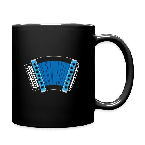 Schwyzerörgeli blau schwarzer Hintergrund - Tasse einfarbig
