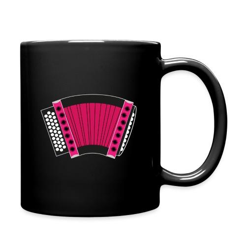 Schwyzerörgeli pink schwarzer Hintergrund - Tasse einfarbig