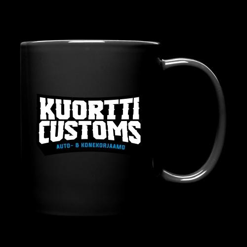 kuortti_customs_logo_main - Yksivärinen muki